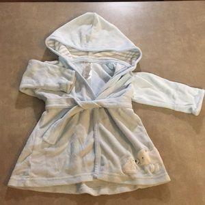 Carters 0-9mo light blue bathrobe